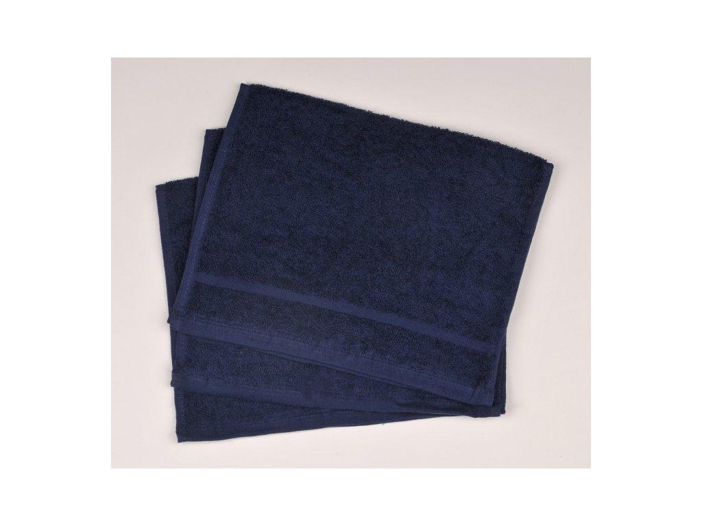 Ručník froté 30 x 50 cm - tmavě modrý