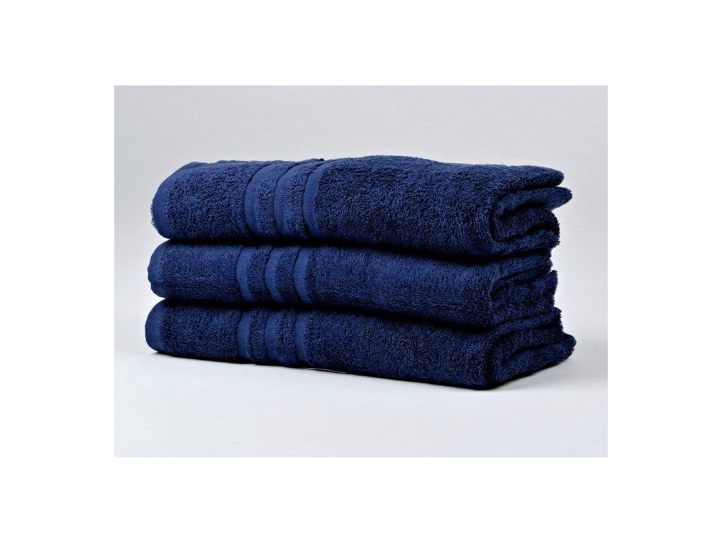 Ručník froté 50x100 cm - CLASSIC - tmavě modrý