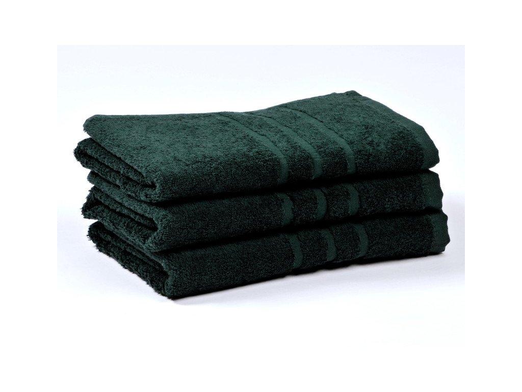 Ručník froté 50x100 cm - CLASSIC - tmavě zelený