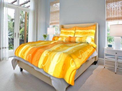 bavlnene povleceni kola oranzova 0