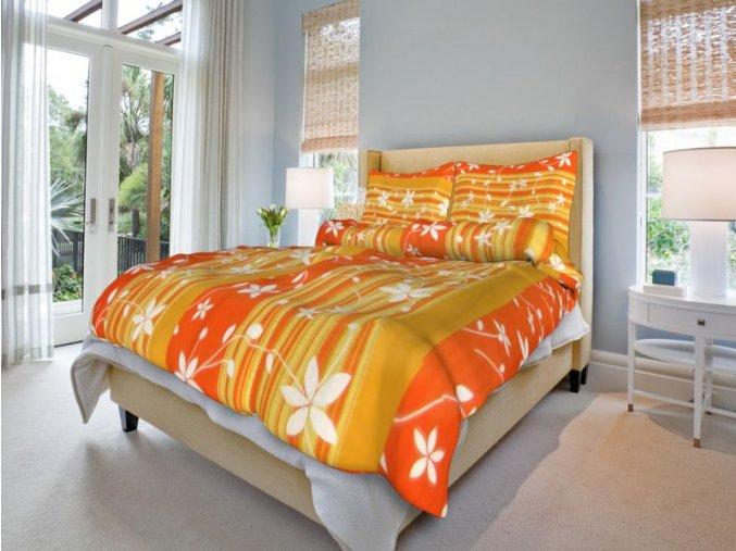 bavlnene povleceni liana oranzova 0