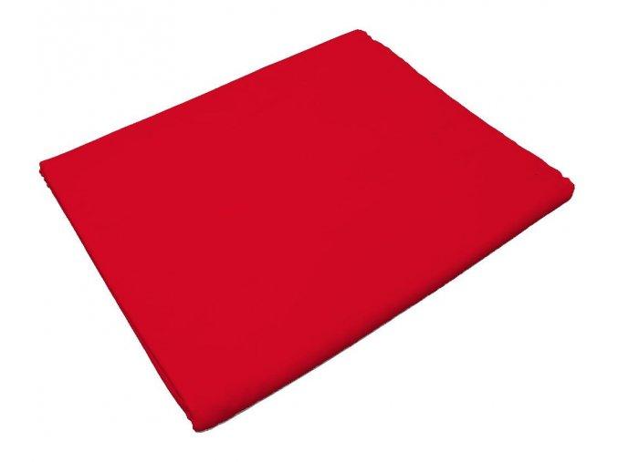 Bavlněné prostěradlo červené