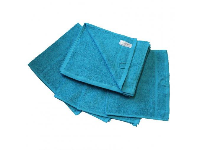 Ručník froté 30 x 50 cm - azurově modrý