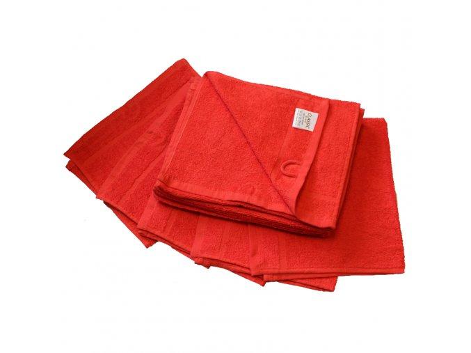 Ručník froté 30 x 50 cm - červený