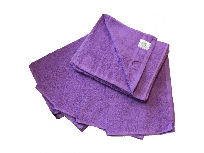 Ručník froté 30 x 50 cm - fialový