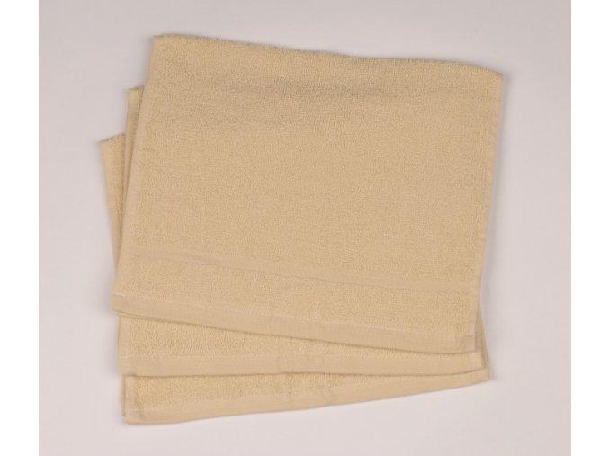 Ručník froté 30 x 50 cm - krémový