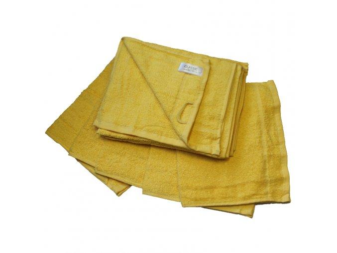 Ručník froté 30 x 50 cm - žlutý