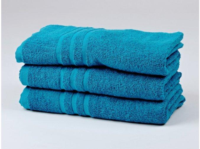 Ručník froté 50x100 cm - CLASSIC - azurově modrý