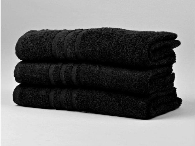 Ručník froté 50x100 cm - CLASSIC - černý