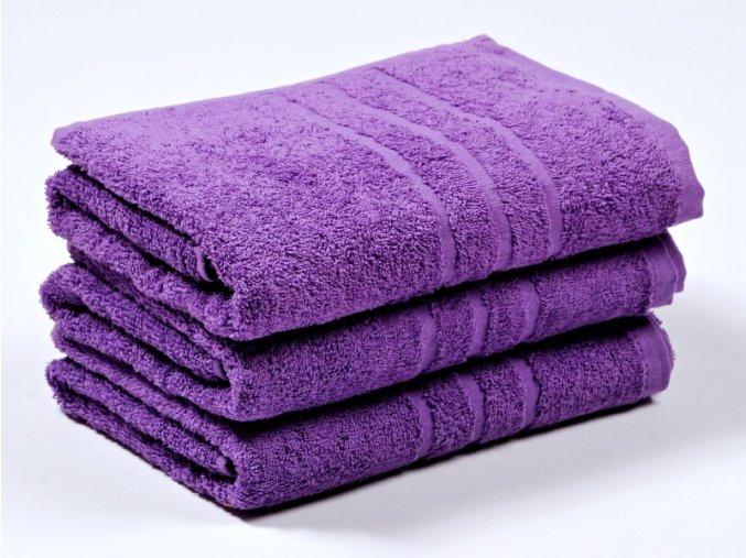 Ručník froté 50x100 cm - CLASSIC - fialový