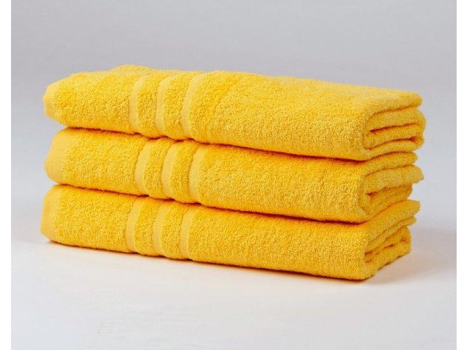 Ručník froté 50x100 cm - CLASSIC - žlutý