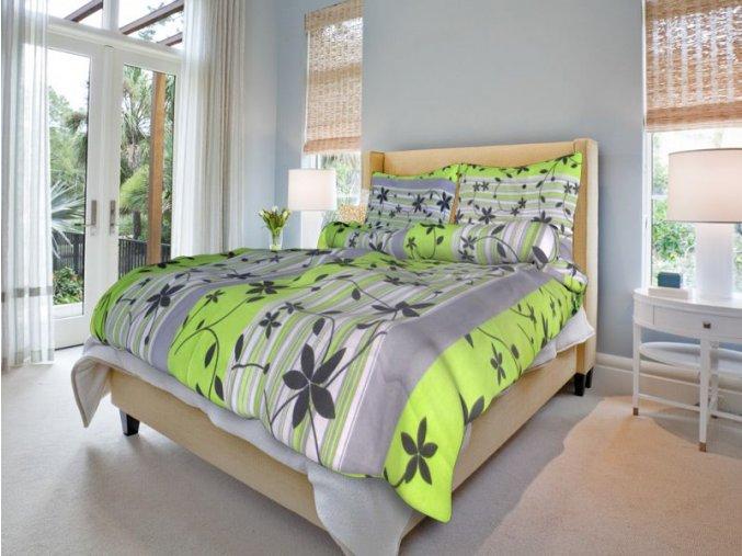bavlnene povleceni liana zelena 0