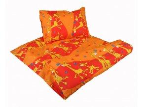 Dětské bavlněné povlečení Žirafa oranžová