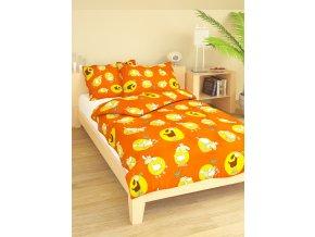 Dětské bavlněné povlečení Ovečka oranžová