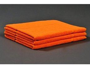Froté koupelnová předložka 50x70 cm - oranžová