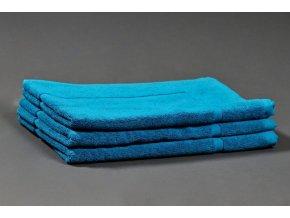Froté koupelnová předložka 50x70 cm - azurově modrá