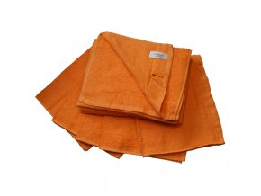 Ručník froté 30 x 50 cm - oranžový