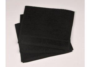Ručník froté 30 x 50 cm - černý