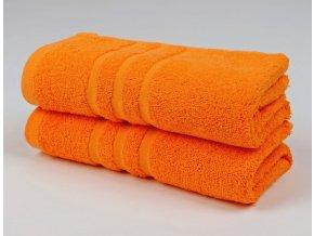 Ručník froté 50x100 cm - CLASSIC - oranžový