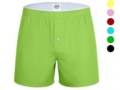 ARIES NORD POP COLOR GREEN TRUNKS - ZELENÉ BAVLNĚNÉ TRENÝRKY