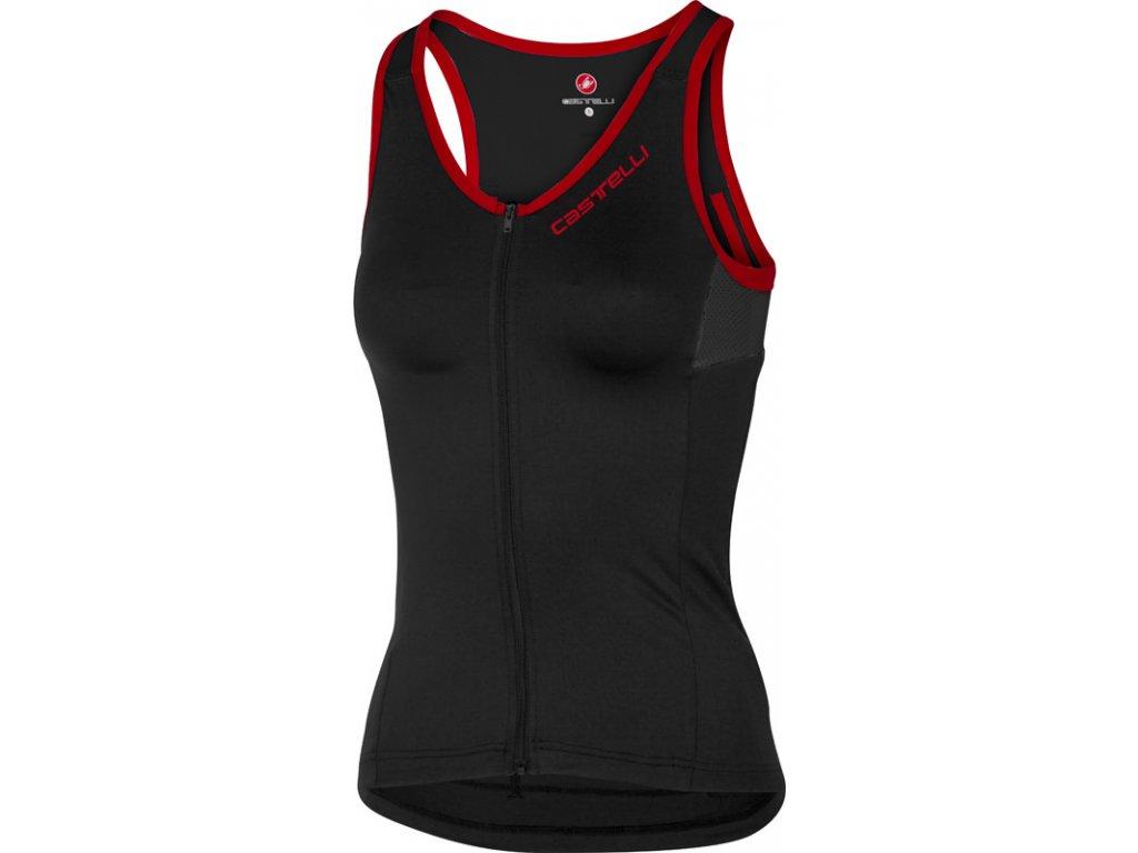 Dámsky Top Castelli Solare Top (Farba Castelli-Solare-čierna-červená, Veľkosť XL)