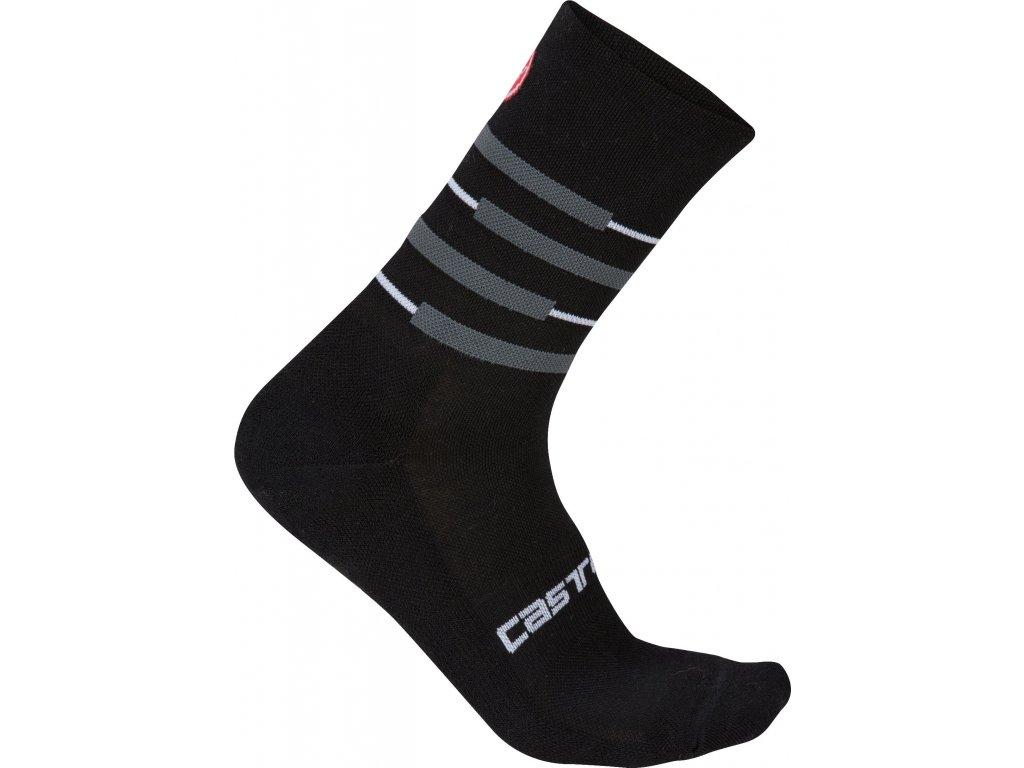 Zimné ponožky Castelli Incendio 15 (Farba Castelli-Incendio-15-Antracit-fluo žltá, Veľkosť XXL)