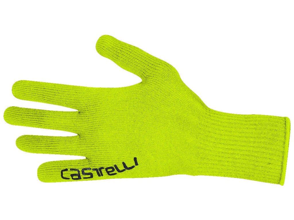 Pletené, funkčné rukavice Castelli Corridore (Farba Castelli-Corridore-rukavice-Fluo-žlté, Veľkosť XXL)