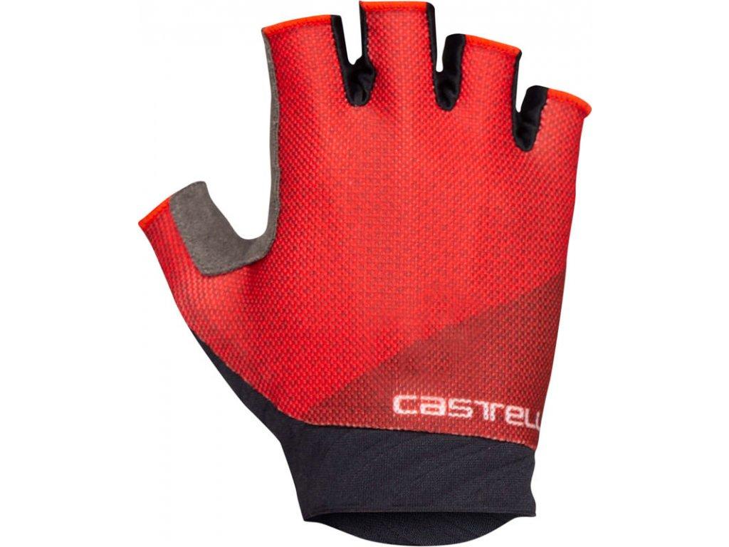 Dámske cyklo rukavice Castelli Roubaix GEL 2 (Farba Castelli-Roubaix-GEL-2-červená, Veľkosť XL)