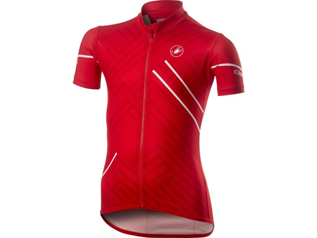 Detský dres Castelli CAMPIONCINO (Farba Castelli-CAMPIONCINO-červená, Veľkosť 12A)