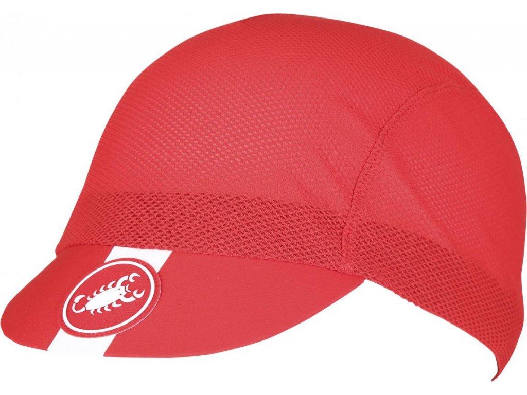 Castelli A/C CYCLING CAP (Farba Castelli-A/C-ciapka-červená, Veľkosť UNI)