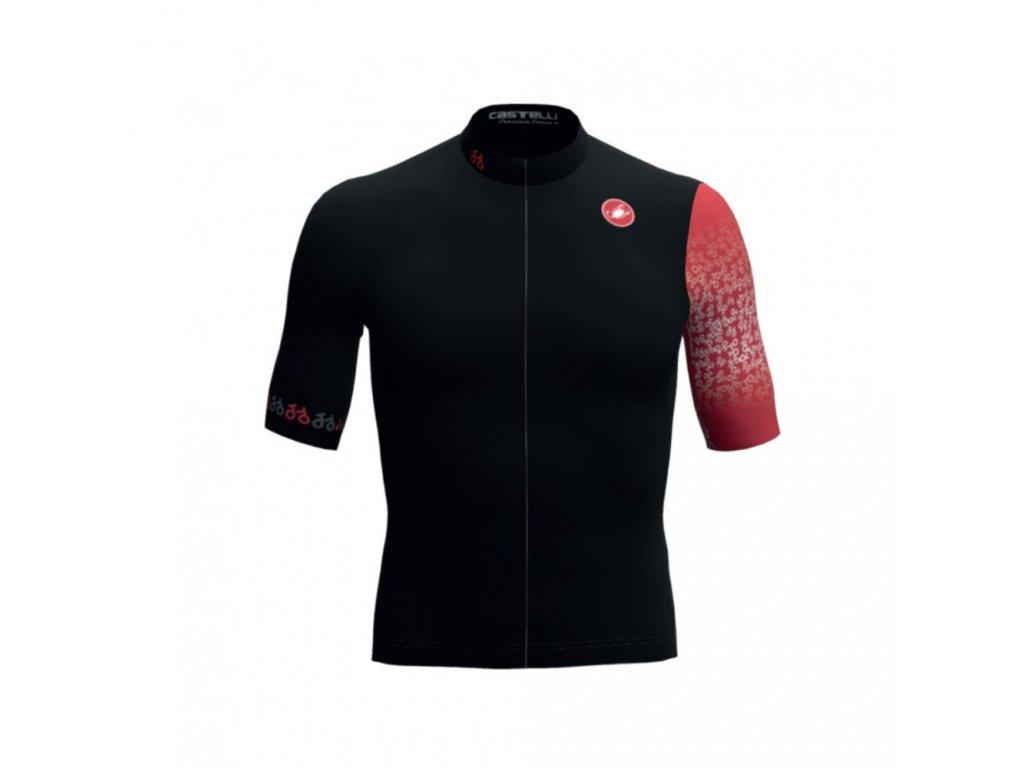 Castelli ToTo Competizione (Farba ToToSPORT-dres-Čierna-červená, Veľkosť dresu XXS)