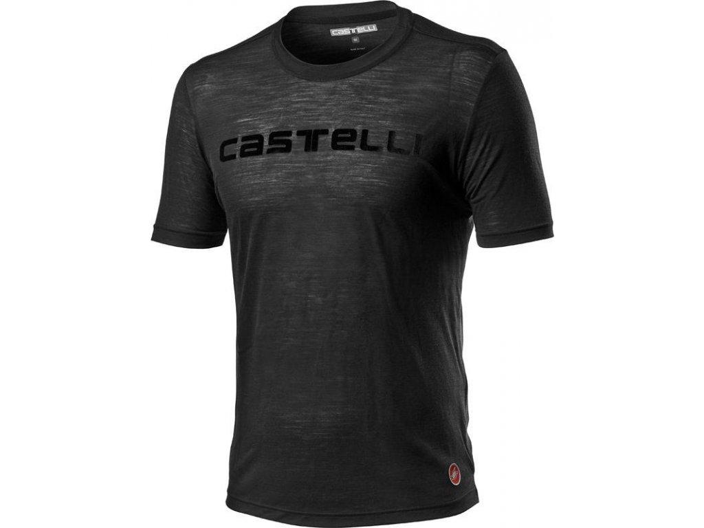 Castelli Merino Brand Tee (Farba Castelli-Merino-Brand-Tee-085-svetlá čierna, Veľkosť XXL)