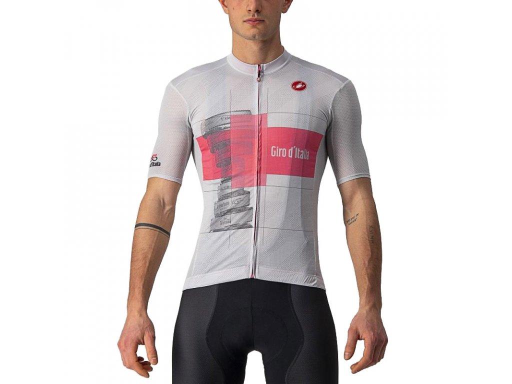 Castelli GIRO Trofeo Rosa (Farba CST_TROFEO_ROSA_870-šedá/ružová, Veľkosť XXL)