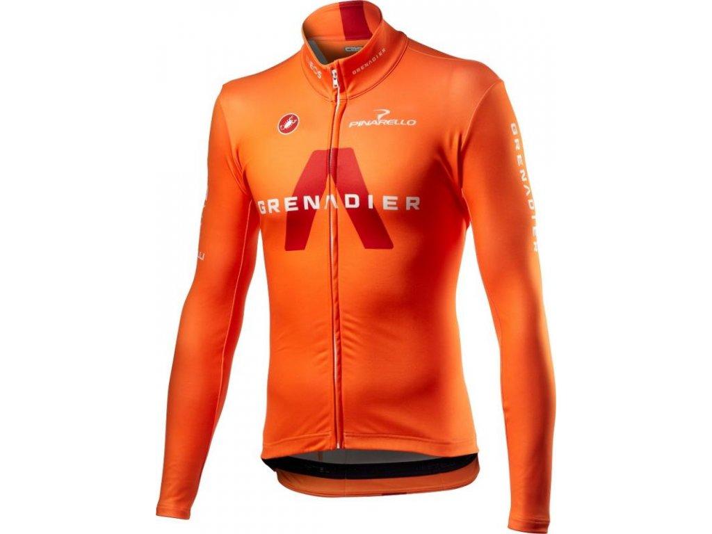 Castelli Ineos Grenadier Thermal LS  Komfortný, jemne zateplený dres v tímovom dizajne