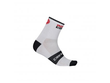Castelli ROSSO CORSA 13 sock (Farba Castelli-Rosso-Corsa-13-biela-fluo žltá, Veľkosť XXL)