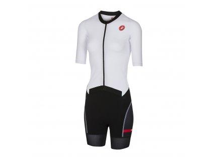 Dámska triatlon kombinéza Castelli All Out W Speed (Farba Castelli-All-Out-W-Speed-damsky-triatlon-Bielo-čiena, Veľkosť XS)