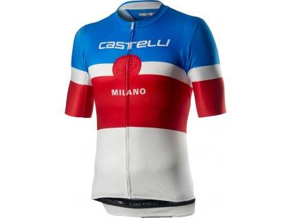 Pánsky letný dres Castelli MILANO (Farba Castelli-MILANO-biela, Veľkosť 3XL)