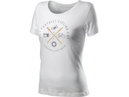 Dámske tričko Castelli SARTA TEE (Farba Castelli-SARTA-TEE-biela, Veľkosť XL)