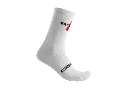 Castelli ponožky Team Ineos Grenadiers Free 12 biela (Farba CST-Team Ineos-Grenadiers-Free 12 biela, Veľkosť XXL)