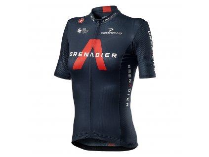 Ineos Grenadiers dámsky dres Castelli PRO TEAM COMPETIZIONE W tmavá červená (Farba Ineos-Grenadiers-CST-PRO-TEAM-COMPETIZIONE-W-tm. modrá, Veľkosť XL)