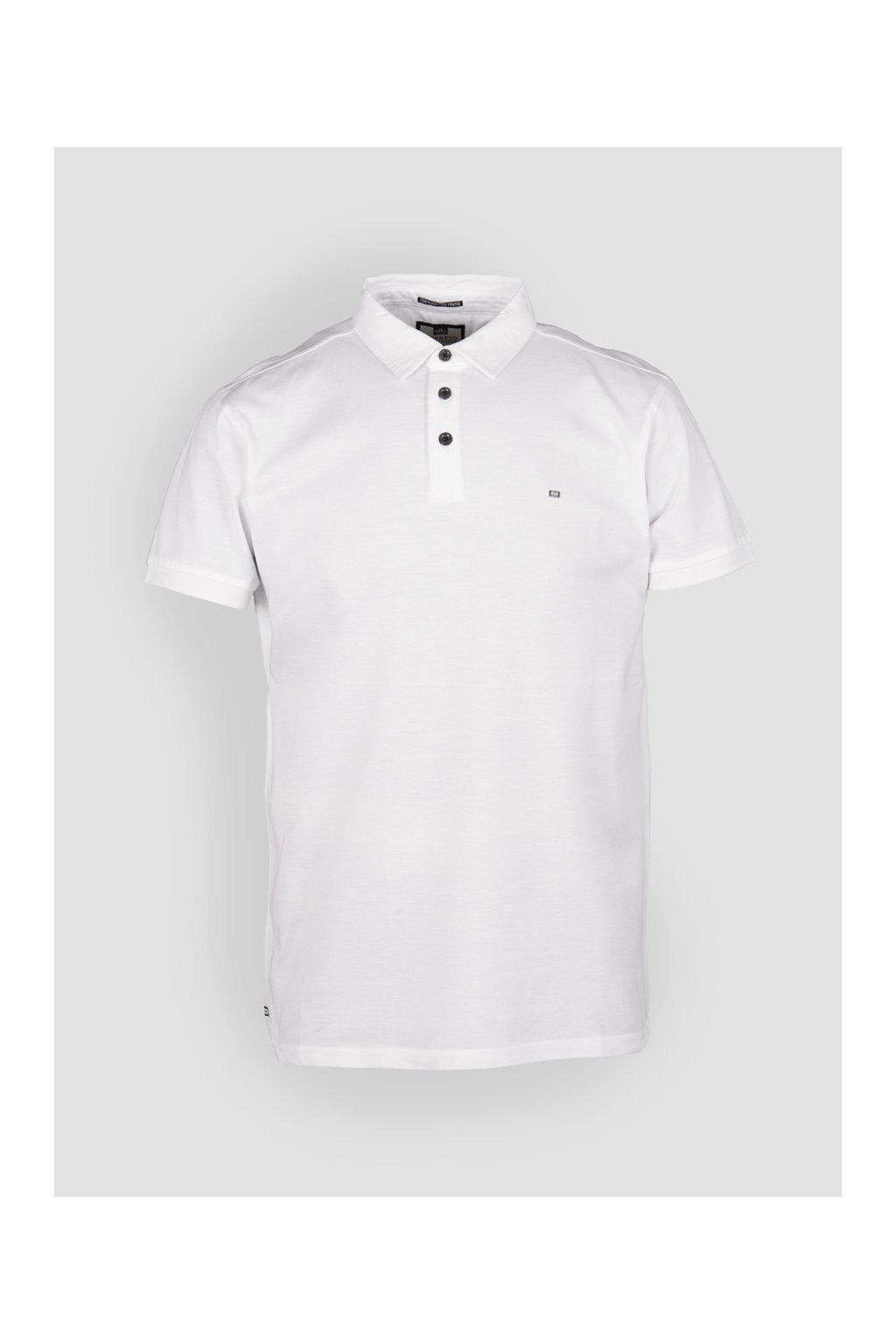 POSS18 11 HAMMETT MERCERISED COTTON SMART PIQUE POLO WHITE