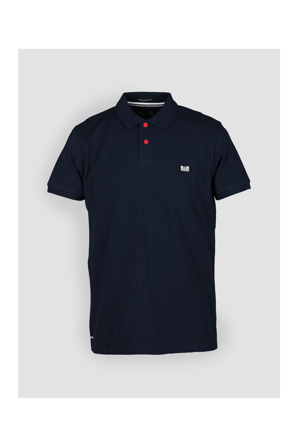 POSS18 01 PREISTLEY BADGE POLO NAVY