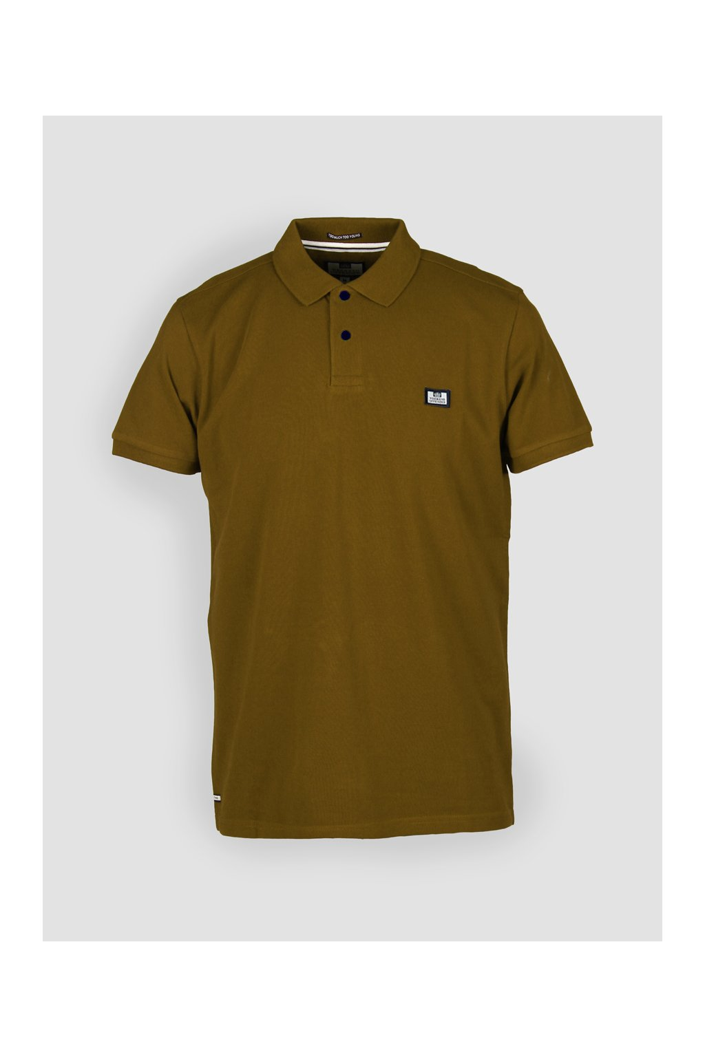 POSS18 01 PREISTLEY BADGE POLO OLIVE