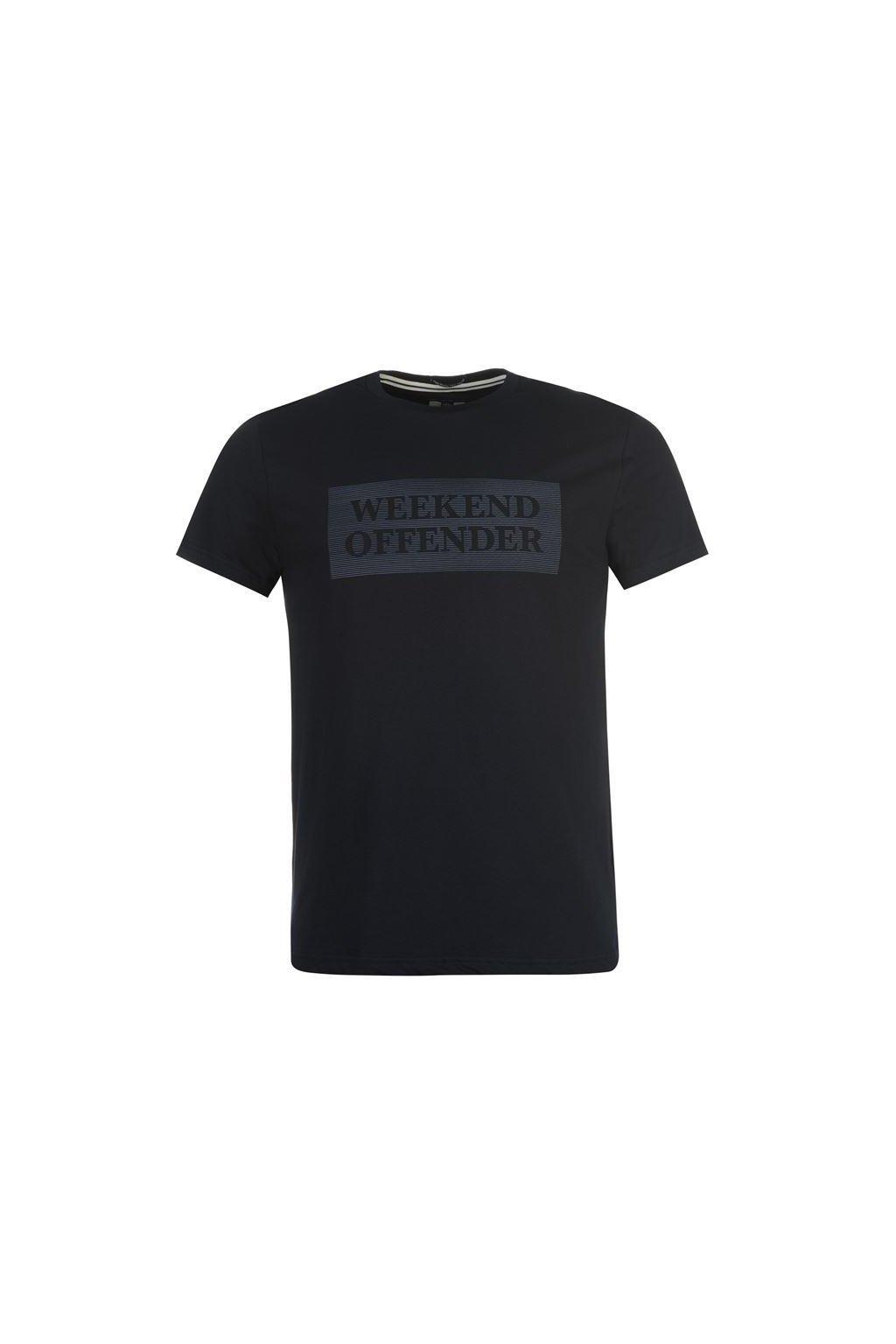 Weekend Offender Bishop T Shirt Men Navy LRG