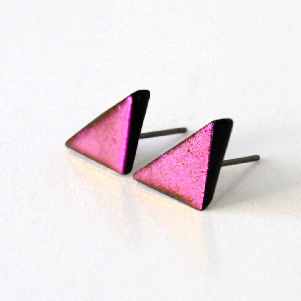 Pecky trojúhelníky růžové