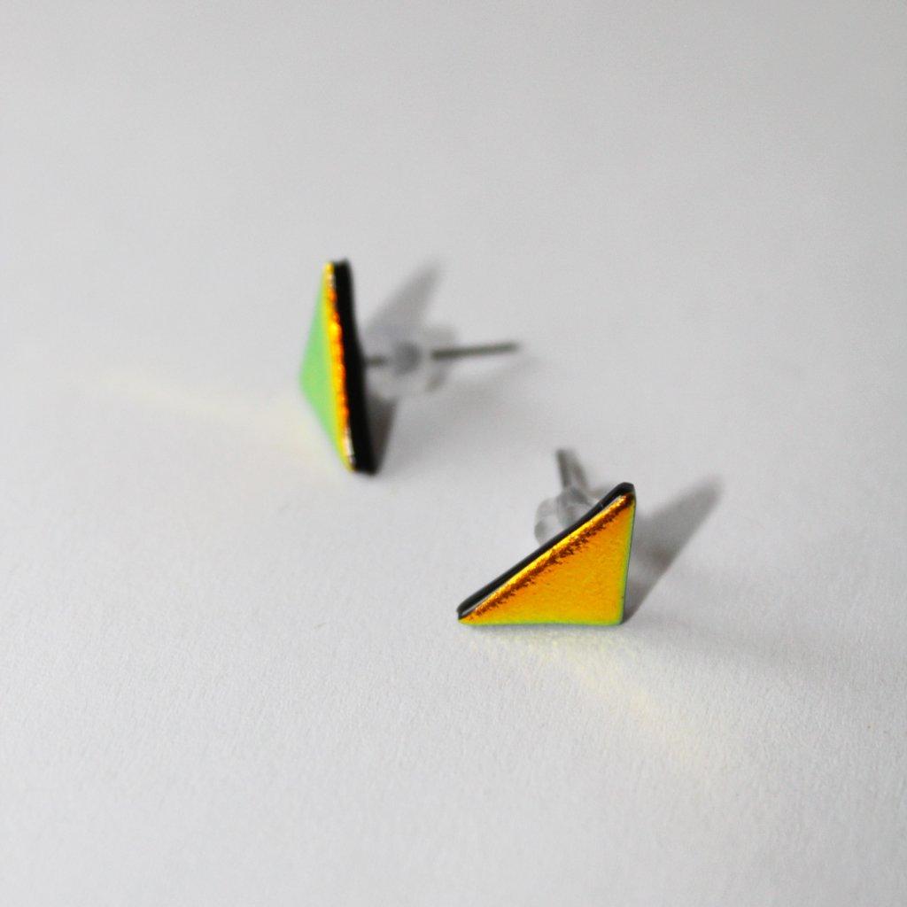 Pecky trojúhelníky zlato-červené
