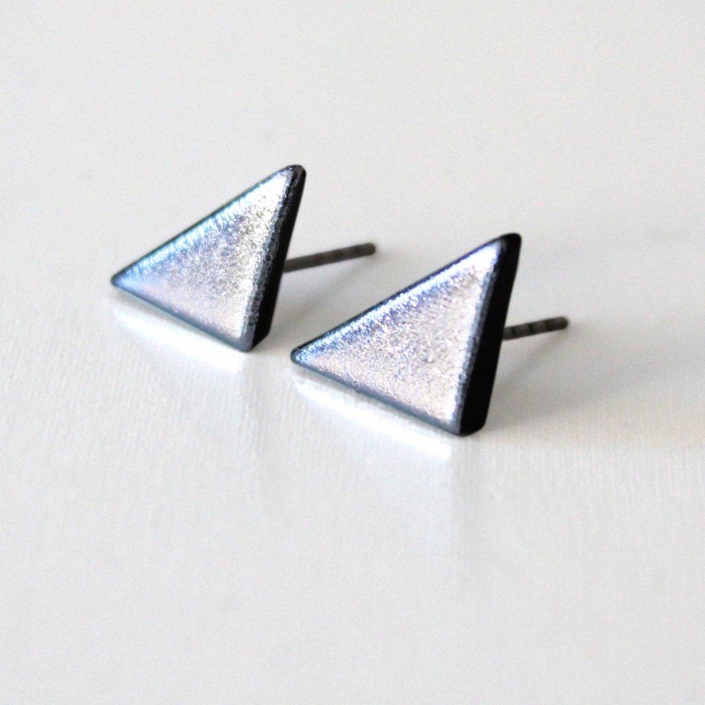 Pecky trojúhelníky stříbrné