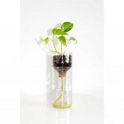 Samozavlažovací květináč čirý