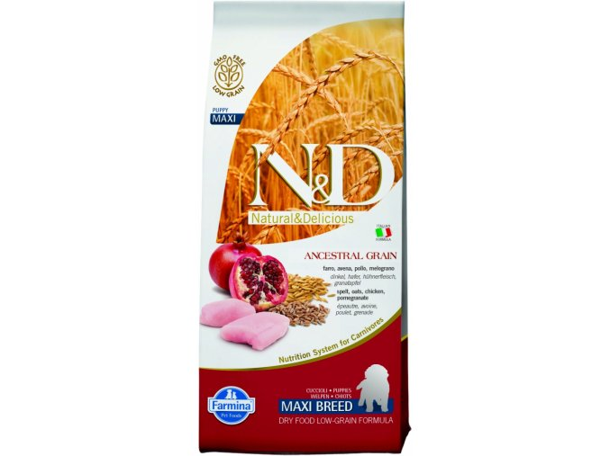 ND LG Dog Puppy maxi Chicken and Pomegranate
