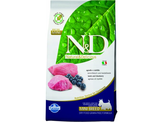 N&D Grain Free DOG Adult Mini Lamb & Blueberry granule